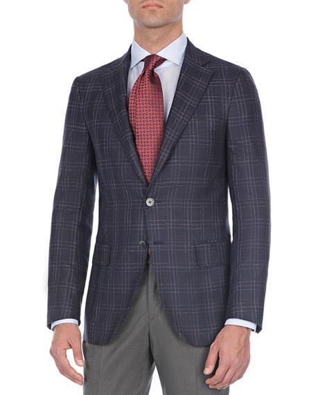 Plaid Wool-Blend Sport Coat