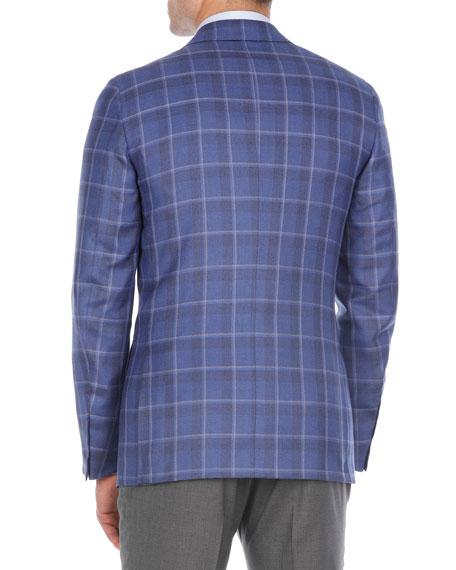Plaid Cashmere-Blend Sport Coat