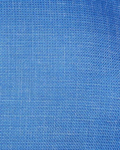 Woven Micro-Check Blazer