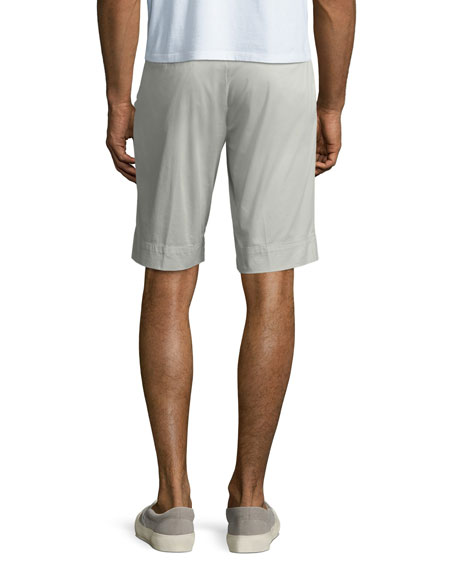 Men's Twill Slim-Straight Shorts