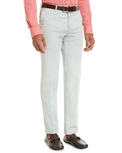 Flat-Front Chino Trousers