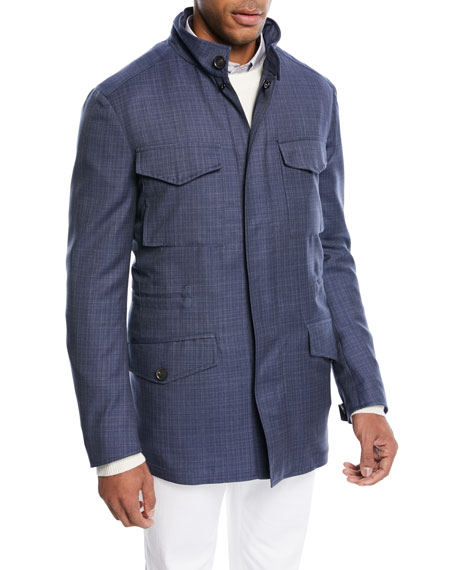 Textured Wool Field Jacket