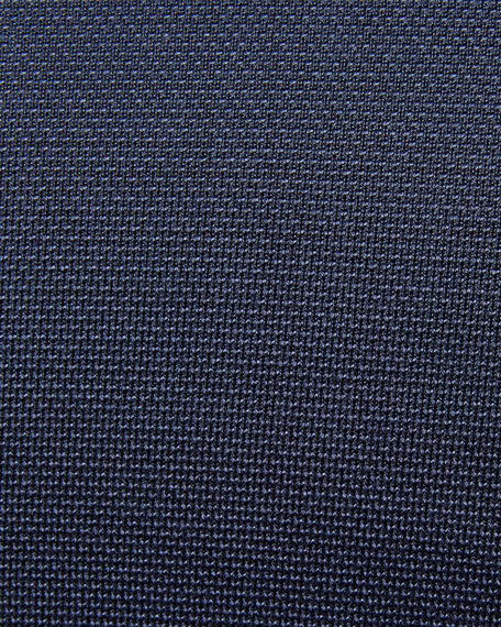 Silk-Blend Piqué-Knit Blazer