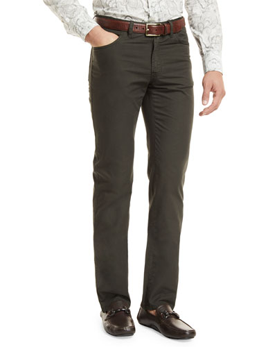 Five-Pocket Cotton Straight-Leg Pants
