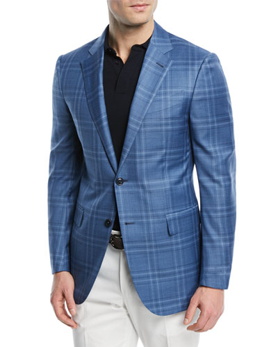 Plaid Wool-Silk Sport Coat