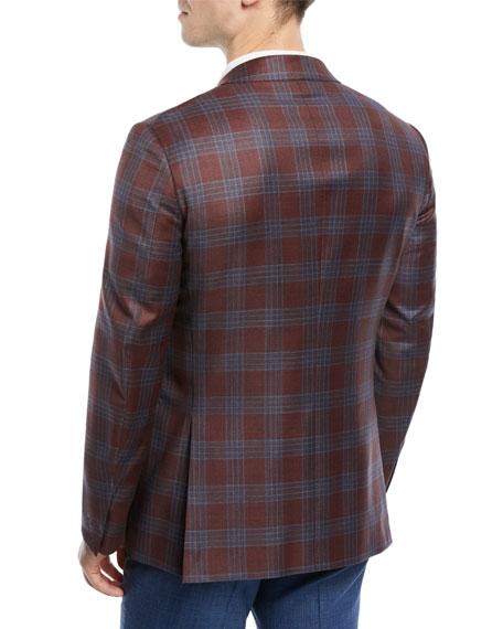 Plaid Two-Button Wool Blazer