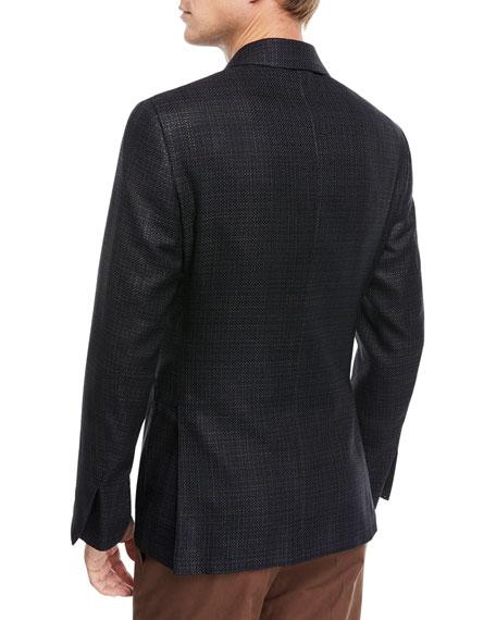 Textured Silk/Cotton Blazer