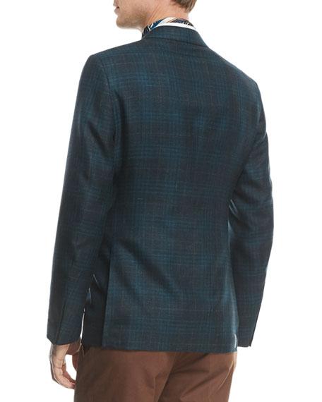Textured Check Cashmere Hemp Sport Coat