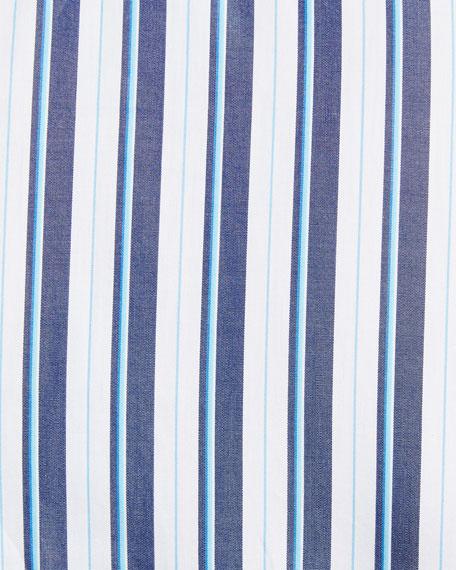 Multi-Stripe Long-Sleeve Shirt, Blue