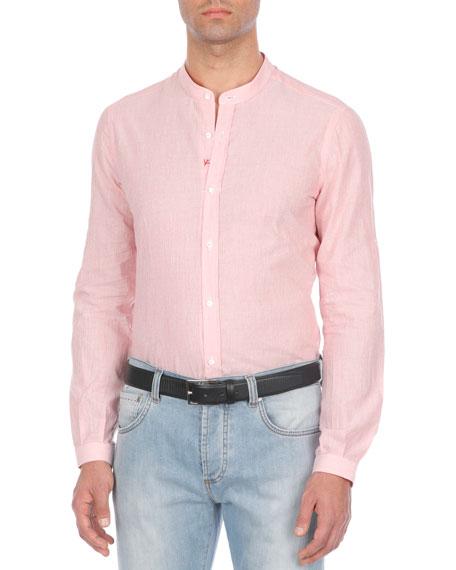 Textured Cotton-Blend Sport Shirt