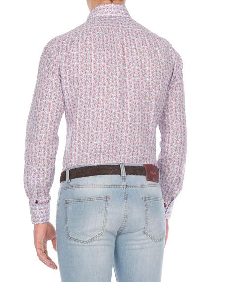 Floral-Print Cotton Sport Shirt