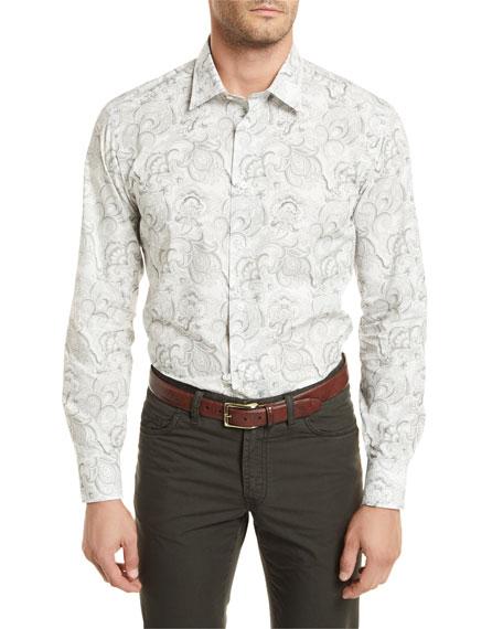 Paisley-Print Long-Sleeve Shirt