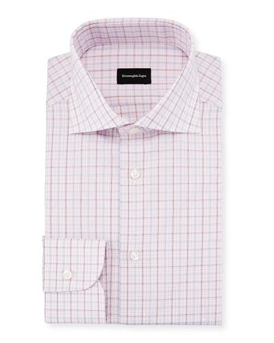 Multi-Check Dress Shirt, Pink
