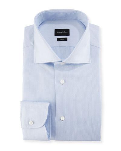 Trofeo Pencil Stripe Cotton Dress Shirt