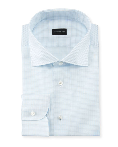 Ermenegildo Zegna Checked Cotton Dress Shirt