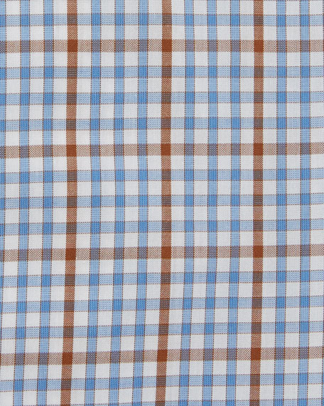 Grid-Check Woven Dress Shirt