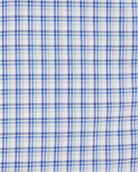 Box-Check Cotton Dress Shirt