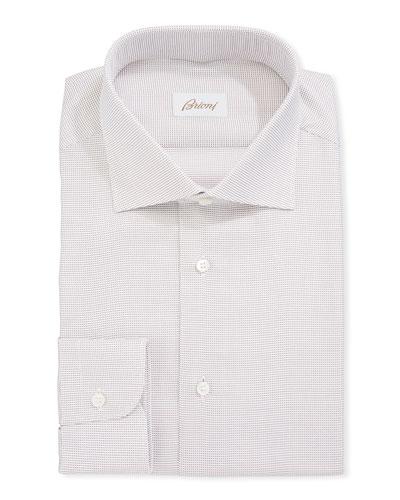 Dot Pattern Cotton Dress Shirt