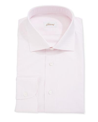 Fine Striped Cotton Dress Shirt