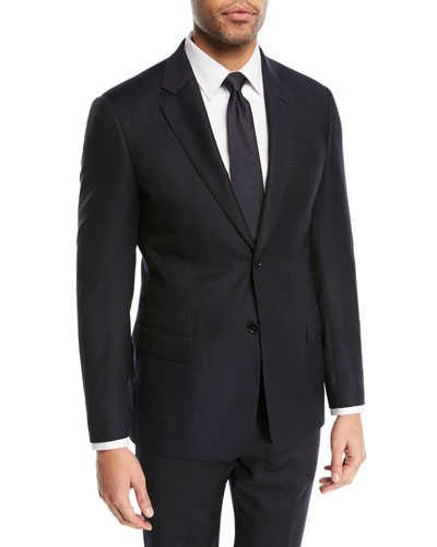 Two-Button Wool Blazer  Navy