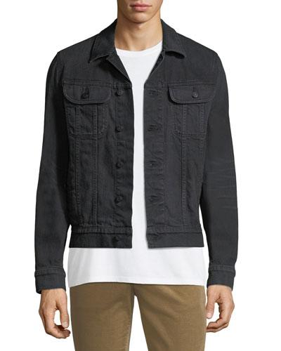 Men's Button-Front Denim Trucker Jacket