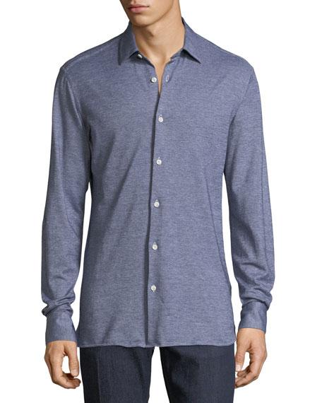 Heathered Piqué Sport Shirt
