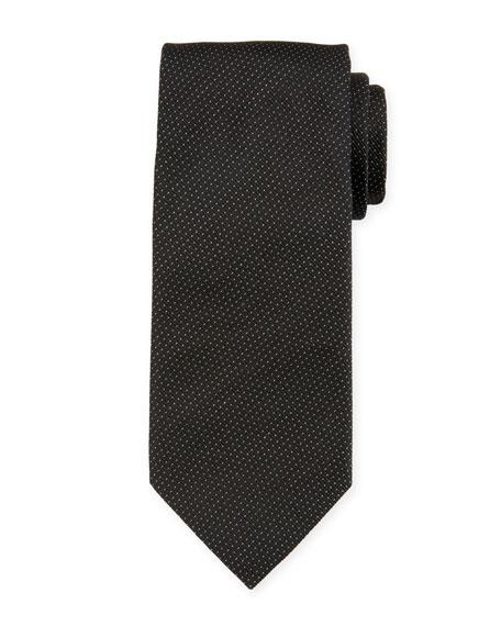 Giorgio Armani Dotted Fancy Silk Tie