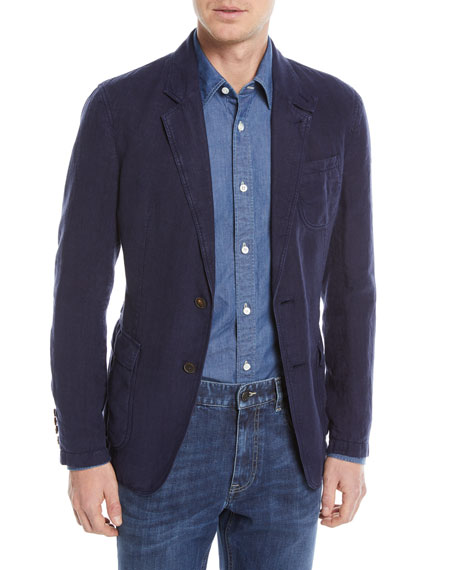 Linen Two-Button Blazer