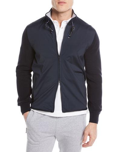 Hybrid Zip-Front Sweater
