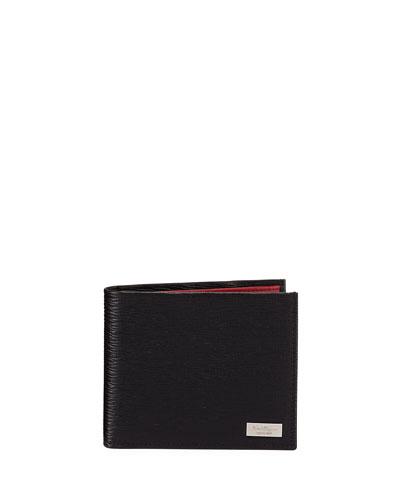 Revival Contrast-Lined Bi-Fold Leather Wallet