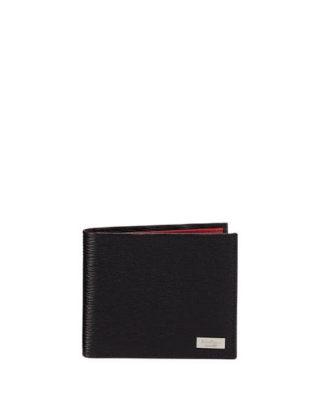 Revival Contrast-Lined Bi-Fold Leather Wallet