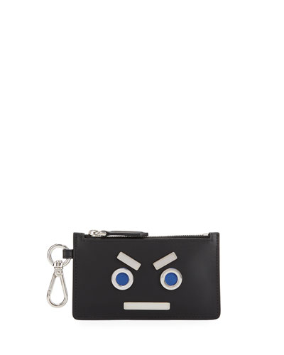 Face Credit Card Zip Key Chain
