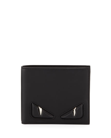 Embossed Monster Eye Bi-Fold Wallet