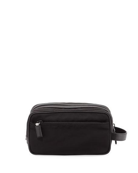 Tessuto & Saffiano Travel Toiletry Bag