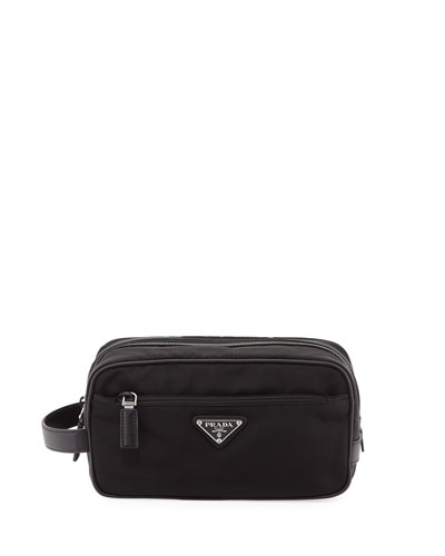 Tessuto & Saffiano Travel Toiletry Bag