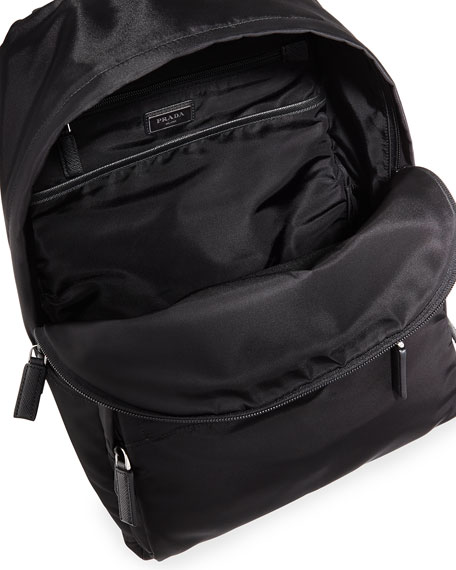 Nylon & Leather Backpack