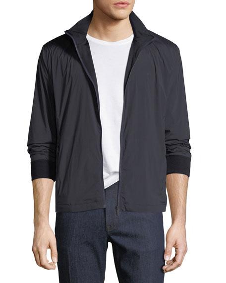 Z ZEGNA Reversible Zip-Front Blouson Jacket in Blue