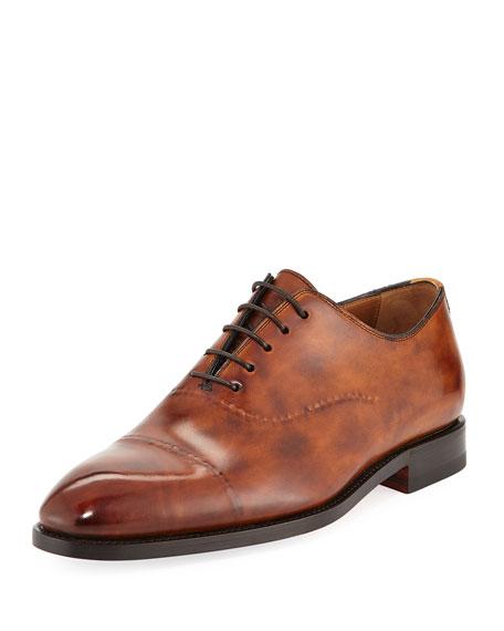 Vittorio Burnished Leather Dress Shoe