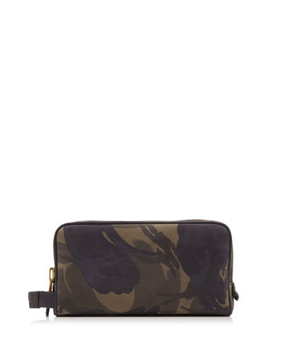 Camouflage-Print Toiletry Bag