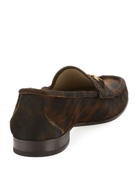 York Chain-trimmed Leopard-print Calf Hair Loafers - BrownTom Ford laGtUs