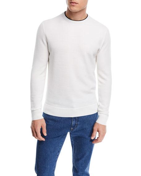 Contrast-Trim Wool Sweater