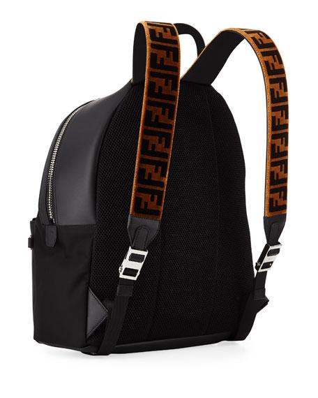 Fendi Men s Signature Zucca-Stripe Backpack 34f301f252888