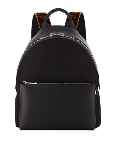 Men's Signature Zucca-Stripe Backpack