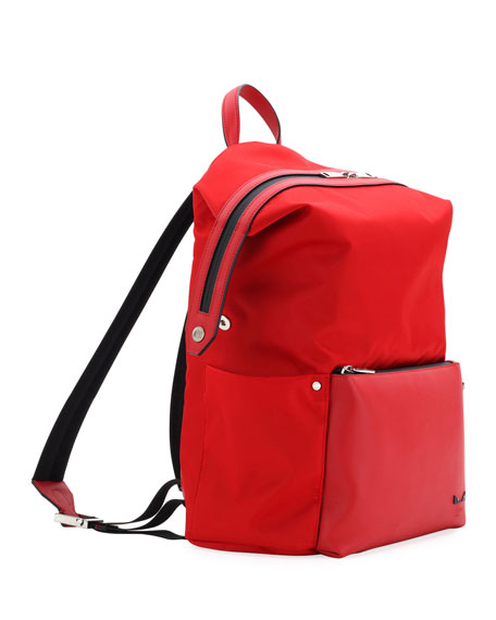 Microbugs Men's Leather-Trim Backpack