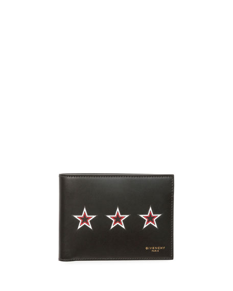 Three Star Bi-Fold Leather Wallet