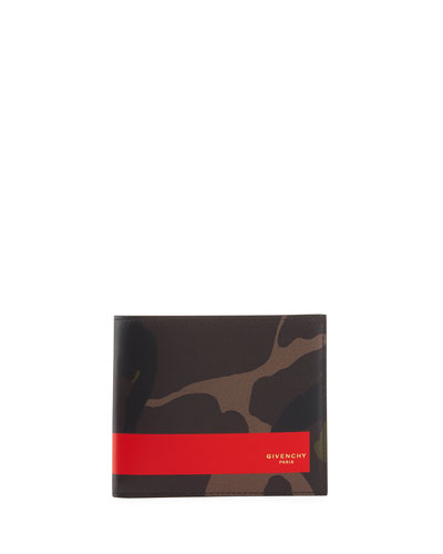 Camouflage Leather Bi-Fold Wallet