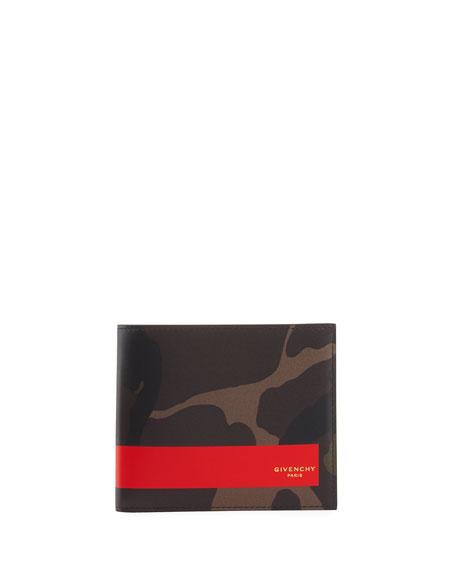Camouflage Leather Bi-Fold Wallet