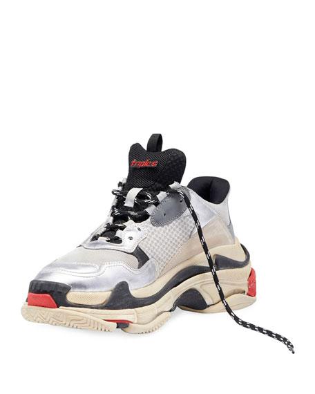 Triple S Mesh & Leather Sneaker
