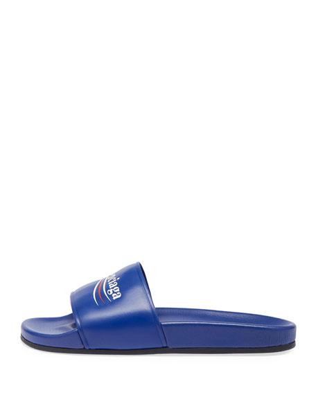 118fe6b9d272 Balenciaga Campaign Logo Pool Slide Sandal