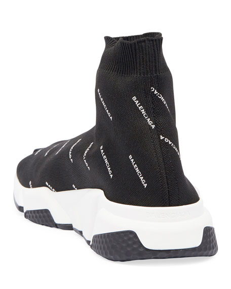 Speed Signature Mid-Top Trainer Sock Sneaker